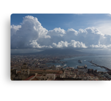 Cruising Into the Port of Naples, Italy Canvas Print