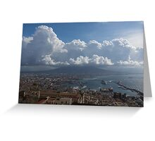 Cruising Into the Port of Naples, Italy Greeting Card