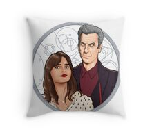 The Twelfth Doctor and Clara Oswald Throw Pillow