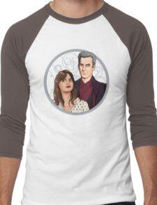 The Twelfth Doctor and Clara Oswald Men's Baseball ¾ T-Shirt