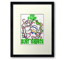 Keep Calm and Bust Ghosts Framed Print