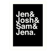 Jennifer & Josh & Sam & Jena. (inverse) Art Print
