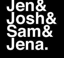 Jennifer & Josh & Sam & Jena. (inverse) by Samantha Weldon