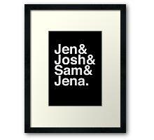 Jennifer & Josh & Sam & Jena. (inverse) Framed Print