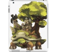 marowak ghost dep on torterra's back iPad Case/Skin