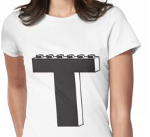THE LETTER T Womens Fitted T-Shirt