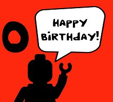 Happy 10th Birthday Greeting Card by Customize My Minifig