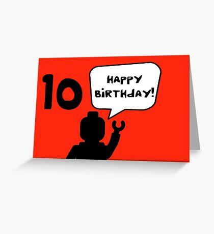 Happy 10th Birthday Greeting Card Greeting Card