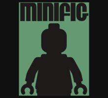 Retro Large Black Minifig, Customize My Minifig One Piece - Short Sleeve