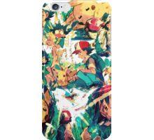 pikachu and ash 4ever friends iPhone Case/Skin