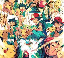 pikachu and ash 4ever friends by danocerebral69