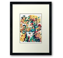 pikachu and ash 4ever friends Framed Print