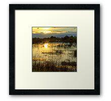 Upper Bittell canal feeder - colour photograph Framed Print