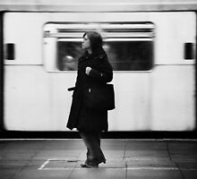 Girl on the London Underground by johnofbastonford