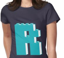 THE LETTER R, Customize My Minifig Womens Fitted T-Shirt