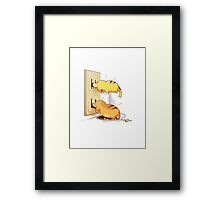 pikachu and raichu in a plug lol Framed Print
