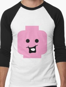 Cheeky Minifig Head Men's Baseball ¾ T-Shirt