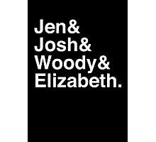Jen & Josh & Woody & Elizabeth. (inverse) Photographic Print