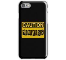 Caution Minifigs Sign iPhone Case/Skin