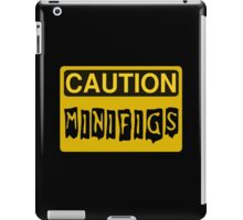 Caution Minifigs Sign iPad Case/Skin