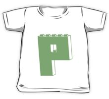 THE LETTER P, Customize My Minifig Kids Tee