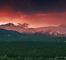 Morning Light on Long's Peak by John  De Bord Photography
