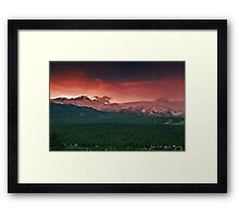 Morning Light on Long's Peak Framed Print