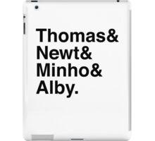 Thomas & Newt & Minho & Alby. iPad Case/Skin