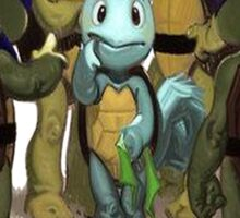 squirtle is a turttle ninja lost Sticker