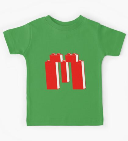 THE LETTER M, Customize My Minifig Kids Tee