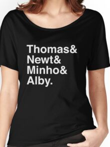 Thomas & Newt & Minho & Alby. (inverse) Women's Relaxed Fit T-Shirt