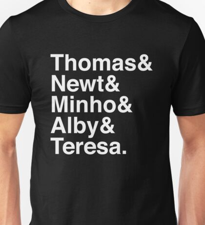 Thomas & Newt & Minho & Alby & Teresa. (inverse) Unisex T-Shirt