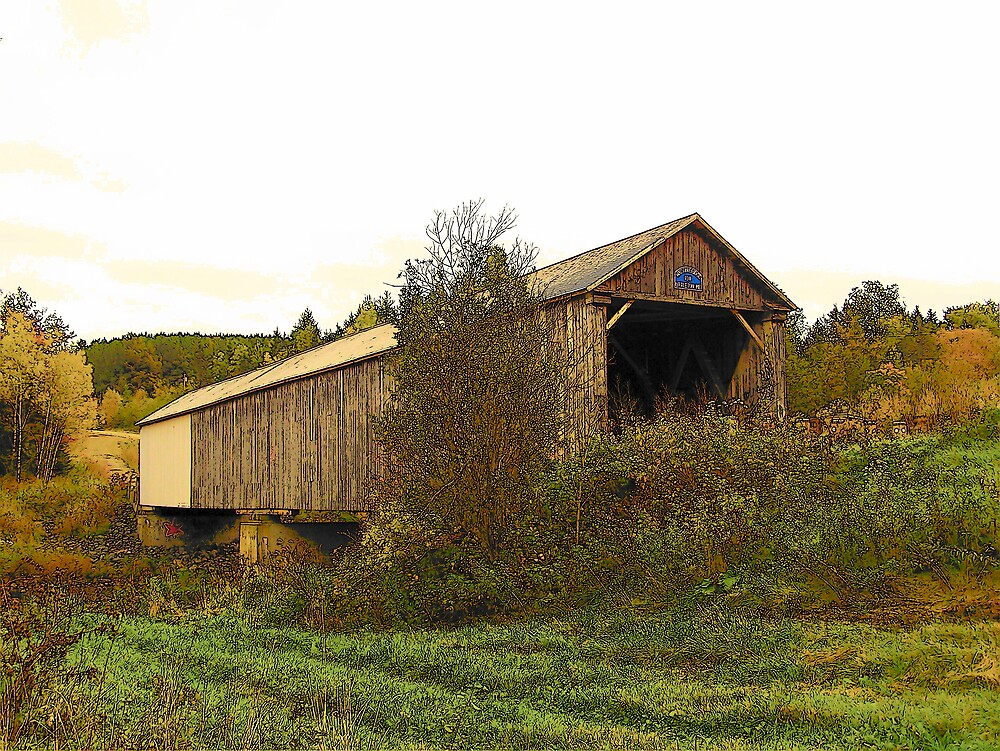 Covered Bridge 2 by Gene Cyr