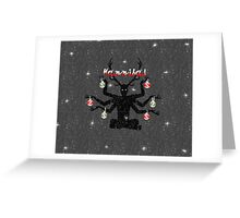 Christmas Wendigo Greeting Card