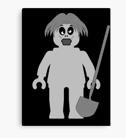 Zombie Minifig, Customize My Minifig Canvas Print