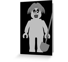 Zombie Minifig, Customize My Minifig Greeting Card