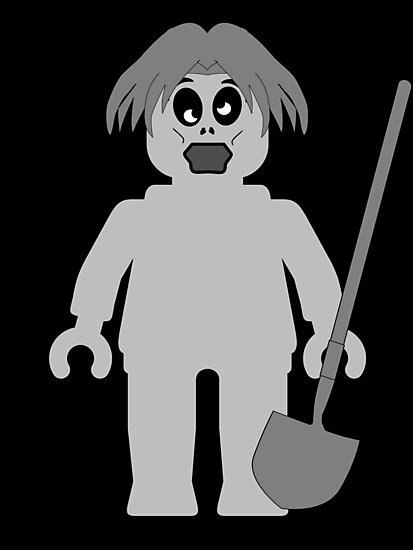 Zombie Minifig, Customize My Minifig by Customize My Minifig