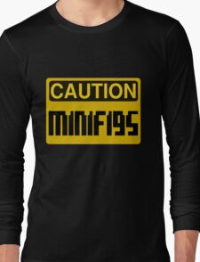 Caution Minifigs Sign Long Sleeve T-Shirt