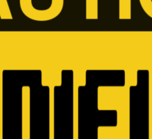 Caution Minifigs Sign Sticker