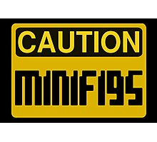 Caution Minifigs Sign Photographic Print