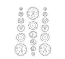 Cog Gear Wheels Pattern by Customize My Minifig