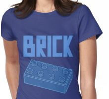 Blue Brick, Customize My Minifig Womens Fitted T-Shirt