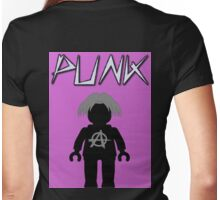 Punk Guitarist Minifig, Customize My Minifig Womens Fitted T-Shirt