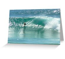 Surfing at Burleigh Heads #4 Greeting Card