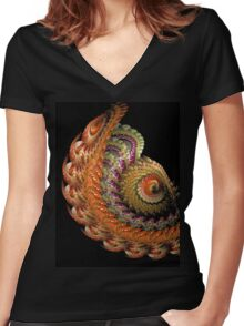 Old Lace  Women's Fitted V-Neck T-Shirt
