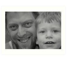 Me and my son Joshua Art Print