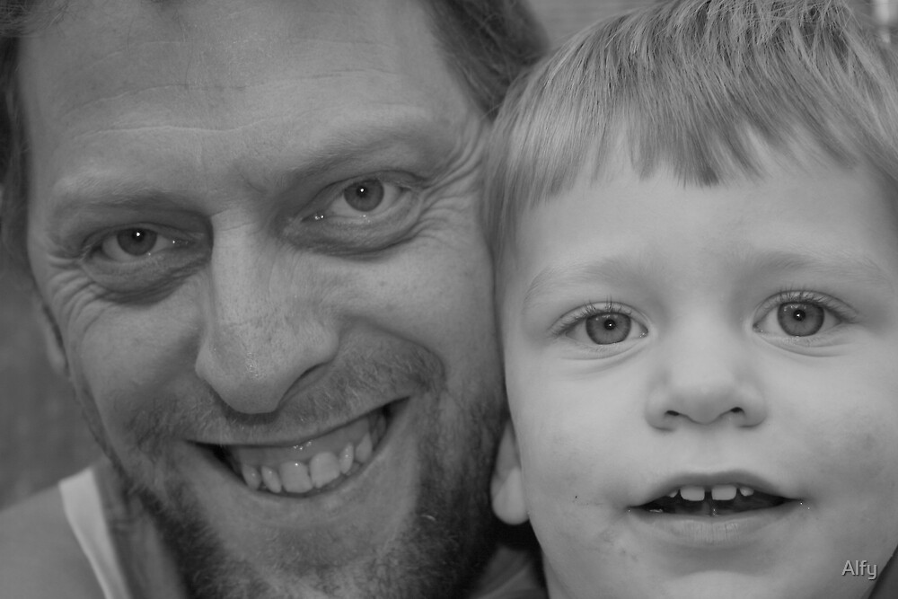 Me and my son Joshua by Alfy
