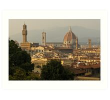 Hot Summer Afternoon in Florence, Italy Art Print
