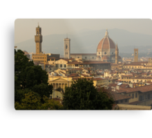 Hot Summer Afternoon in Florence, Italy Metal Print