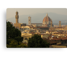 Hot Summer Afternoon in Florence, Italy Canvas Print